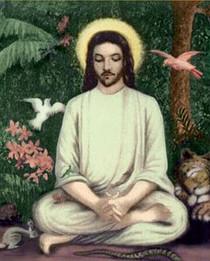 Jesus in Lotus Posture - Tall Jar Candle