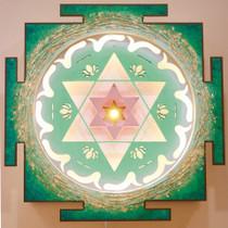 Heart Chakra Yantra Sculpture
