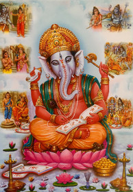 Ganesha Writing - Poster