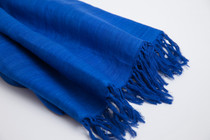Ahimsa Silk Shawl - Royal Blue