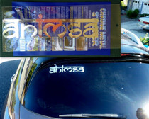Ahimsa Chrome Metal Sticker