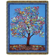 Butterfly Tree Tapestry Throw
