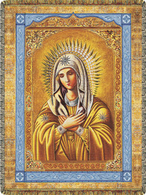 Mother Mary Through Time Tapestry Throw - B