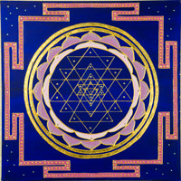 Sri Chakra - Enhanced Giclee