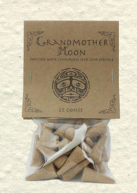 Grandmother Moon Incense Cones with Lemurian Seed Gem Essence (25 Cones)