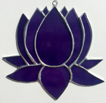 """Lotus - Purple Stained Glass - 6"""""""