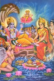 Vishnu, Lakshmi & Garuda - Poster