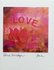 Love (Pink) - Greeting Card