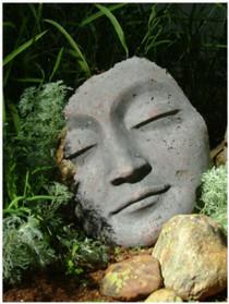 Buddha Mask Fragment - 14 inch