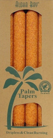 Orange Palm Wax Taper Candles