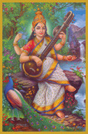 Saraswati (2) - Goddess of Creativity, Inspiration and Language - Tall Jar Candle