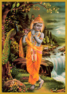 Lord Krishna- Flute- Short Jar Candle