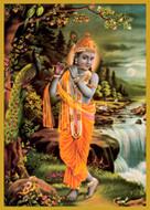 Lord Krishna- Flute- Tall Jar Candle