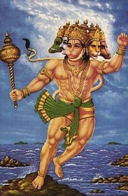 5 Faces of Hanuman Standing - Poster