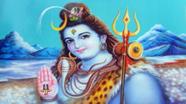 Lord Shiva Paint Abstract - Poster