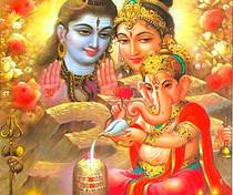 Shiva, Parvati & Baby Ganesha - Poster
