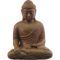Buddha Statue  - Touching the Earth - Brown Concrete