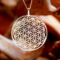 Flower of Life Pendant - Gold Plated