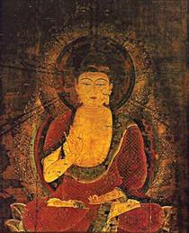 Amitabha Buddha - Short Jar Candle