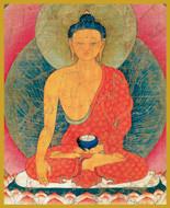 Sakyamuni Buddha - Short Jar Candle