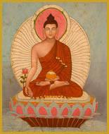 Sakyasimha Buddha - Short Jar Candle