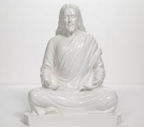 "Statue - Jesus Meditating - White 8"""