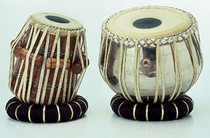 Tabla sheesham wood with brass nickeled Doogi, Special straps and skins on both, with ring set, hammer & standard bag.