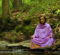 Meditation Shawl - Om Mantra - Purple