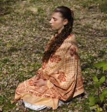 Meditation Shawl - Ganesh - Peach