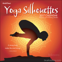 Yoga silhouettes and serene settings are merged with sometimes serious, sometimes playful words from around the world and throughout time to help us feel more connected to ourselves and our environment.