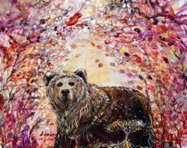 Bear of Love with a Heart of Gold - Greeting Card