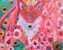 Chakra One - Fox - Greeting Card