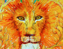 Chakra Three - Lion - Greeting Card