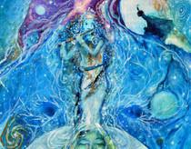 Chakra Five - Krishna - Greeting Card