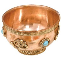 Small Om Copper Bowl