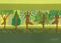Tree Poses - Greeting Card