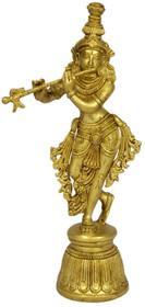 """Statue - Krishna Brass 11"""""""