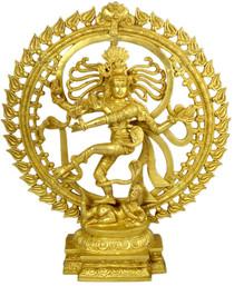 """Statue - Brass Sri Nataraj 20"""""""