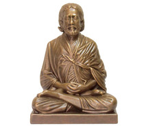 "Statue - Sri Yukteswar Meditating - Golden Bronze 8"""