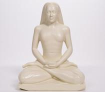 "Statue - Babaji Meditating - Almond 8"""