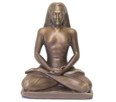 "Statue - Babaji Meditating - Golden Bronze 8"""