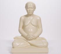 """Statue - Lahiri Mahasaya Meditating - Almond 8"""""""