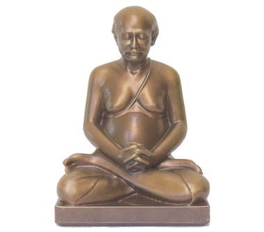 "Lahiri Mahasaya Meditating - Golden Bronze 8"""