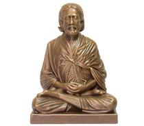 "Statue - Sri Yukteswar Meditating - Golden Bronze - 24"""