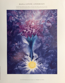 "Crown Chakra Blossoming Poster (with title) - 8.5""x11"""