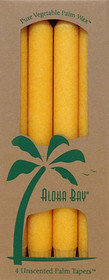 Honey Gold Palm Wax Taper Candles