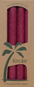 Burgundy Palm Wax Taper Candles