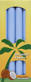 Light Blue Palm Wax Taper Candles