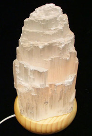 Selenite Crystal Glow Lamp (Large)
