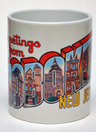 Mug:  Greetings From Hoboken w/multi-colored image